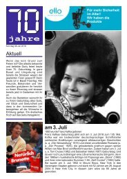 Geburtstagszeitung 70 Dorly
