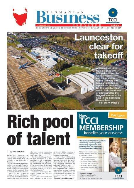 Tasmanian Business Reporter July 2018
