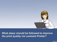 What steps should be followed to improve the print quality via Lexmark Printer?