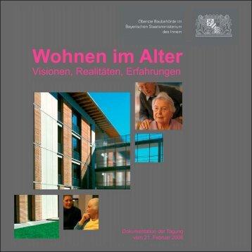 Broschüre Wohnen im Alter - Wohnen in Bayern - Experimenteller ...