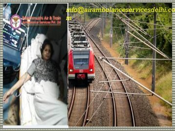 Advanced Train Ambulance Service in Kolkata