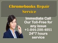 Chromebook Repair Service +1-844-200-4051