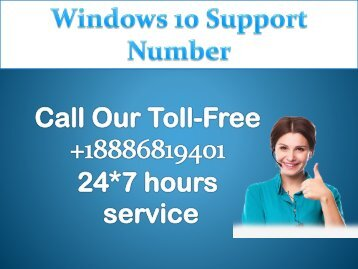 Windows 10 Support Number +1-8886-819-401