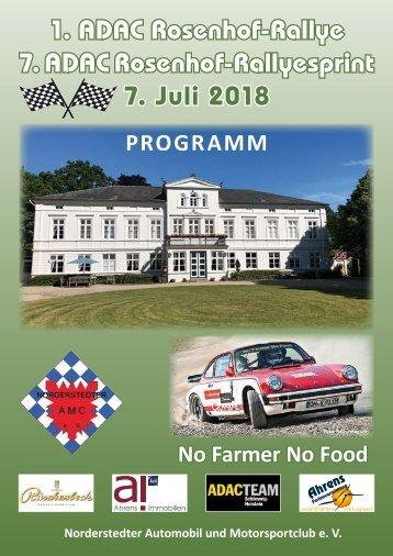 Heft Rosenhof-Rallye 2018
