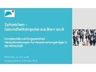 Zeitzeichen – Gesundheitsimpulse aus Bern 2018