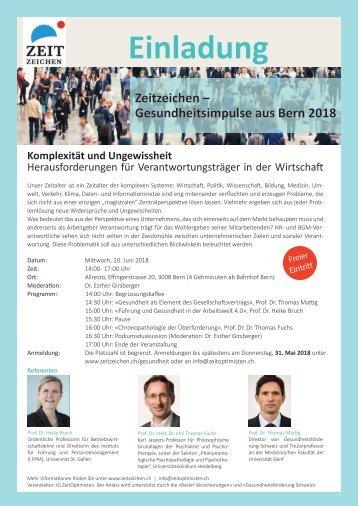 Zeitzeichen - Gesundheitsimpulse aus Bern 2018