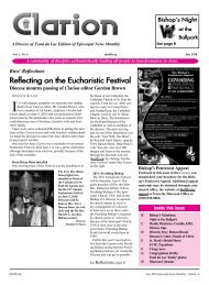 Reflecting on the Eucharistic Festival - Diocese of Fond du Lac
