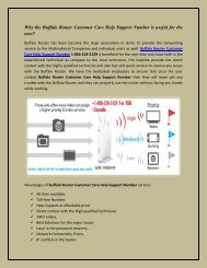 Why the Buffalo Router Customer 1-866-218-3129 Care Help Support Number is useful for the user