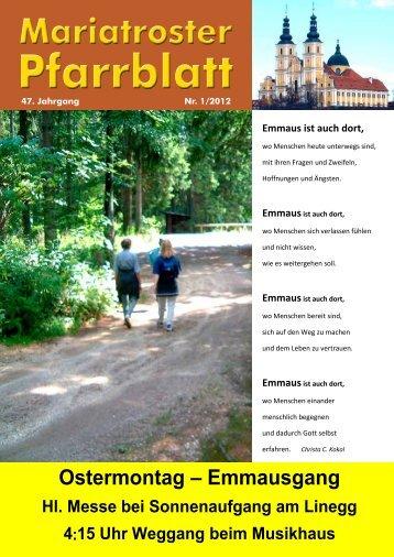 Pfarrblatt 01/2012 - Pfarre Mariatrost