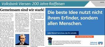 Volksbank Viersen: 200 Jahre Raiffeisen  -26.06.2018-
