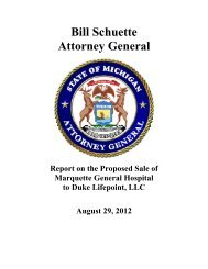 Bill Schuette Attorney General - State of Michigan