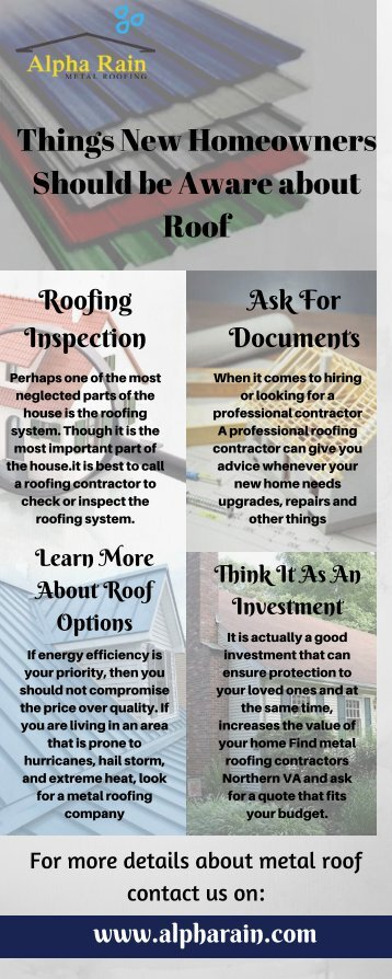 Things New Homeowners Should be Aware about Roof