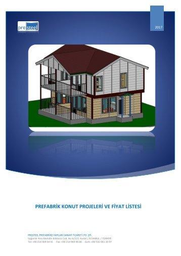 Prefabrik Konut Projeler ve Fiyat Listesi - 2017 Katalog