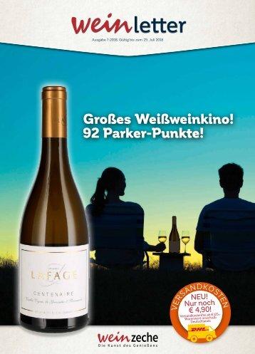Weinzeche Weinletter 7_2018 – Die Kunst des Genießens