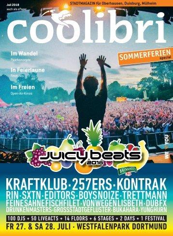Juli 2018 – coolibri Oberhausen, Duisburg, Mülheim