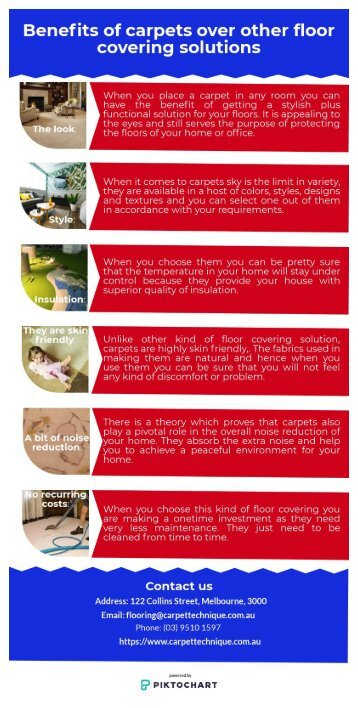 Benefits of carpets over other floor covering solutions