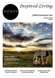 DOMVS Enterprise Club Inspired Living - Issue 3 - Summer 2018