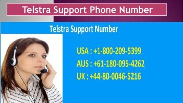 Telstra Support Phone Number Dial 1-800-209-5399