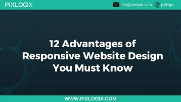 12 advantages of responsive website design