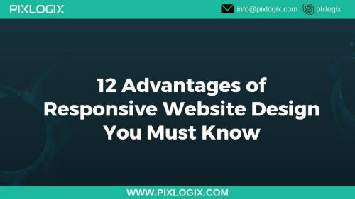 12 advantages of responsive website design