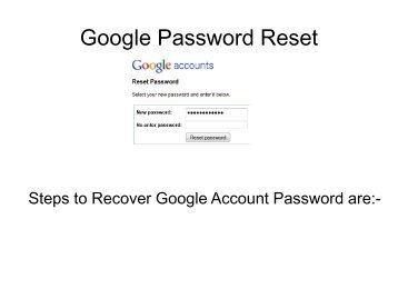 Google Password Reset Number | How to Recover Google Account