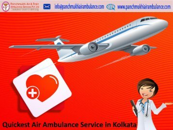 Affordable Price Patient Transfers by Panchmukhi Air Ambulance Service in Kolkata