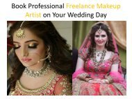 Book Professional Freelance Makeup Artist on Your Wedding Day