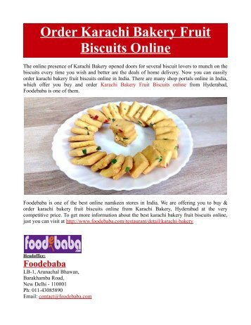 Order Karachi Bakery Fruit Biscuits Online