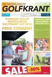 De Nederlandse Golfkrant juli 2018