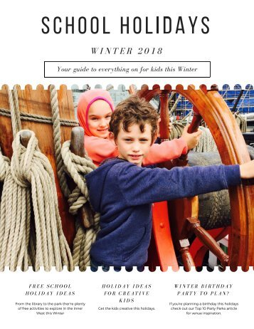 KIDsize Living Inner West School Holiday Guide Winter 2018