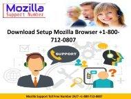 Download Setup Mozilla Browser +1-800-712-0807