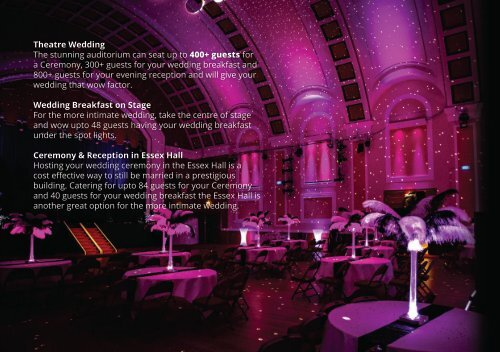 Wedding Brouchure - Princes Theatre, Clacton