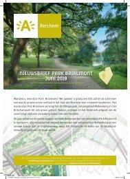 Nieuwsbrief Park Brialmont - juni 2018