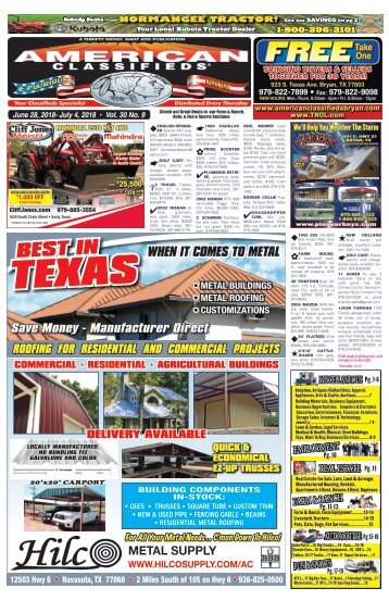 American Classifieds/Thrifty Nickel June 26th Edition Bryan/College Station