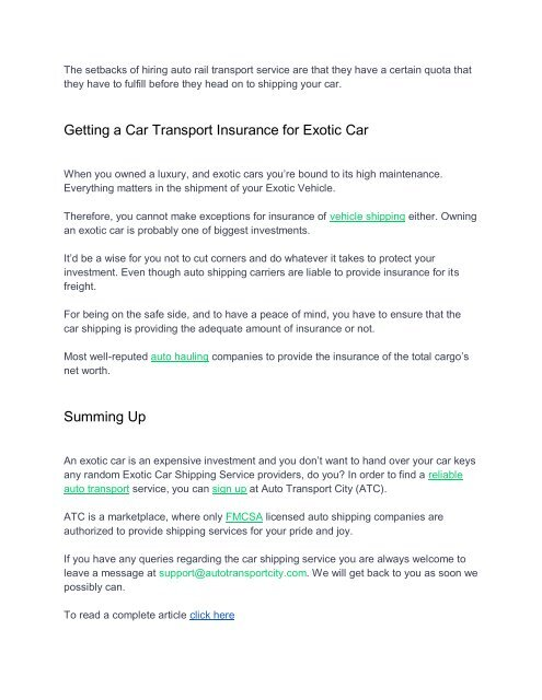 Car Transport Rates >> Other Modes Of Tr