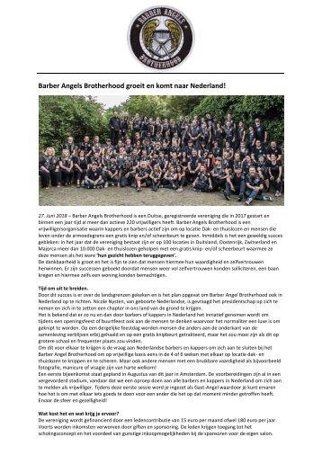 Barber Angel Brotherhood groeit en komt naar Nederland 27-6-2018