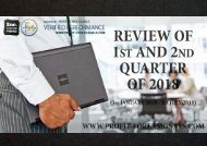 Review of 1st and 2nd quarter of 2018