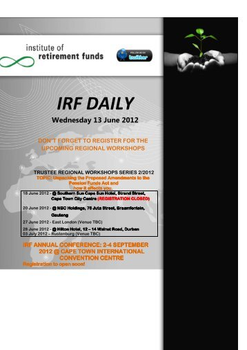 local news - Institute of Retirement Funds