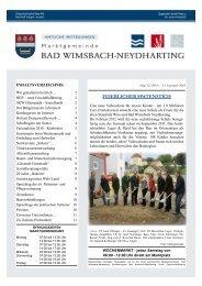 Singles Bad Wimsbach-Neydharting, Kontaktanzeigen aus