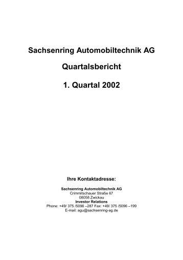 Quartalsbericht 1. Quartal 2002 - Amiculum.de