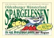 Freitag, 11. Mai 2012 ab 19.00 Uhr in 46 Restaurants der Region