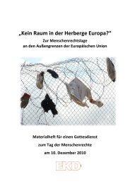 """""""Kein Raum in der Herberge Europa?"""" - Evangelische Kirche in ..."""