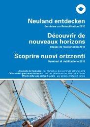 Neuland entdecken - Krebsliga Schweiz
