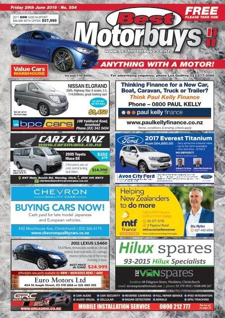 Best Motorbuys: June 29, 2018
