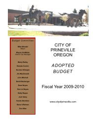 Fiscal Year 2009-2010 - City of Prineville