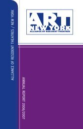 alliance of resident theatres/new york annual report 2006/2007