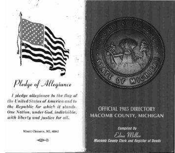 1985 Macomb County (Michigan) Directory