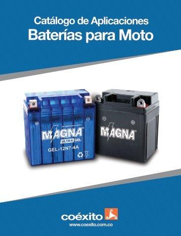 CATÁLOGO BATERÍAS DE MOTO 2018 MARZO 5