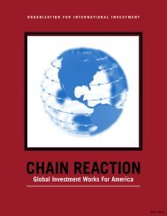 Chain Reaction, Global Investment Works for America